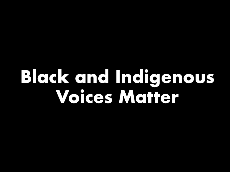 Black and Indigenous Voices Matter