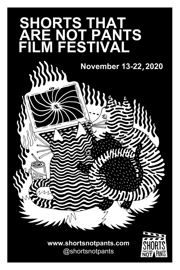 2020 Festival Poster (Black and White)
