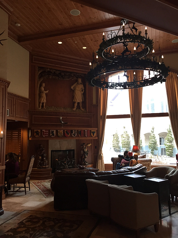 Lobby of the Zermatt Resort